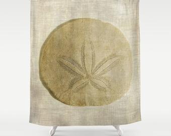 Sand Dollar Shower Curtain, Photography, Bath Curtain, Bathroom Decor, Beach Decor, Cottage Decor, Seashell