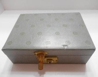 Vintage Small Dark Gray/Green Jewelry Box