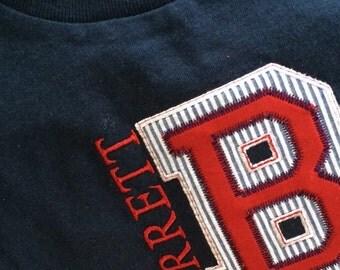 Monogrammed appliquéd t shirt