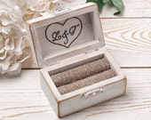 Ring Bearer Box, Wedding Ring Box, Personalized Ring Box, Rustic Ring Box, Wedding Ring Holder, Ring Bearer Pillows, Wood Box