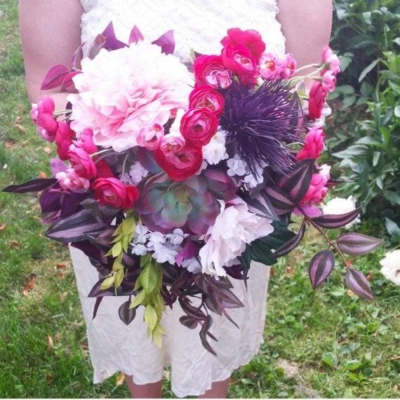Unique Wedding Bouquets: Unique Bridal Bouquet Purple & Pink Wedding Bouquet