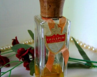 LUCIEN LELONG TAILSPIN Cologne Vintage Discontinued Fragrance Collectible 1-oz Perfume Bottle 1940s
