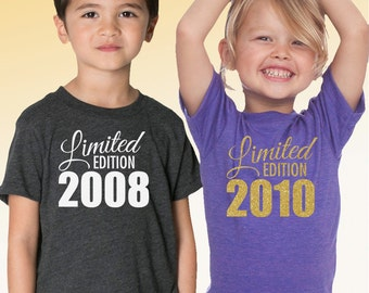 Limited Edition Tri Blend Toddler, Kids, Youth Track T-Shirt - Sizes 2, 4, 6, 8, 10, 12