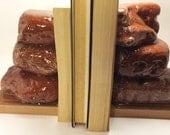 Sea brick book ends