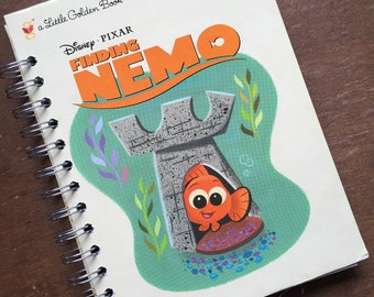 Finding Nemo Little Golden Book Recycled Journal Notebook