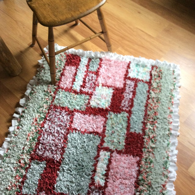 Xl Rag Rug: Handcrafted Upcycled Goods & Vintage By MeadowlarkNaturals