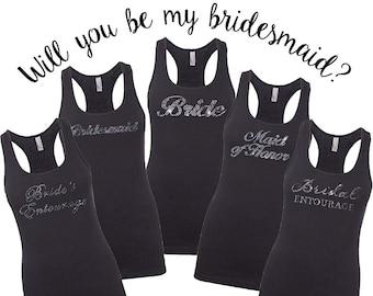 Bridesmaid Shirts, Bridesmaid Gift, Bridesmaid Tank, Maid of Honor Gift, Maid of Honor Shirt, Bride Shirt, Bride Gift, Bachelorette Party