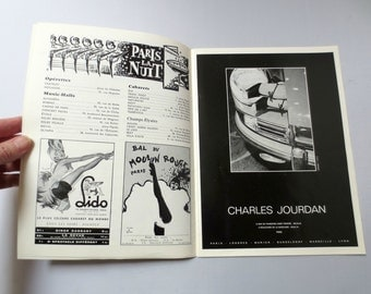 Vintage 1967 Hotel George V, Paris, Guest Magazine, Vintage Ads, Moulin Rouge, 20 pages, French and English