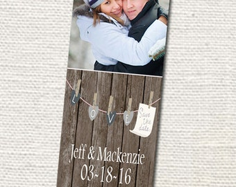 50, 100 or 150  Photo Save the Date Bookmarks, Great Keepsakes for your guests