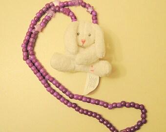 White Bunny Kandi Necklace