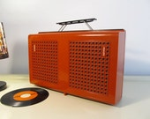 Vintage Record Player, Retro Rare PHILIPS Stereo Type 623 Vinyl lp Working Portable Record Player 33,45,78rpm Orange Philips 22GF623/53L 70s