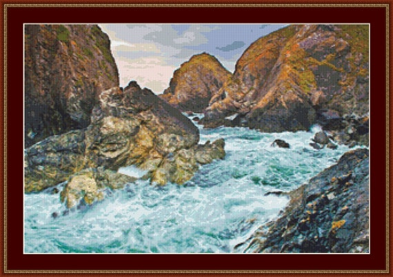 Cornish Coastline Cross Stitch Pattern /Digital PDF Files /Instant downloadable