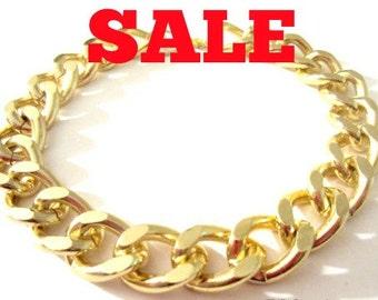 Gold Chain Bracelet. Chunky Chain Bracelet. Chain Link Bracelet. Chunky Chain. Chain Bracelet. Chain Jewelry
