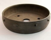 Round, drum-style bonsai pot