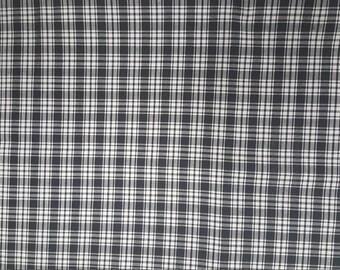 Black and White Pima Cotton Tartan Plaid by Spechler Vogel