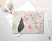 Watercolor stationery, butterfly painting, butterfly garden, personal stationery set, butterfly stationery, blank notecards