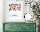 INSTANT DOWNLOAD, C.S. Lewis Quote, Far Better Things Ahead, Watercolor Floral, Heaven, Printable, No. 628