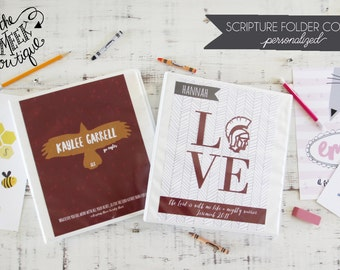 Personalized Scripture Folder Covers, White Co. Schools