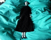vintage porcelain goth doll