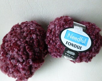 Yarn Sale  - Maroon Fondue by Needful yarns