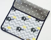 Elephant Changing Mat - Elephant Changing Pad - Baby Changing Mat - Elephant Baby - Waterproof changing mat - portable changing mat
