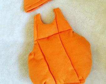 Halloween,  Boutique Style Pumpkin costume,OTT Tutu Dress 3, 6,9,12, 24 month, sizes 2, 3, 4, 5, 6