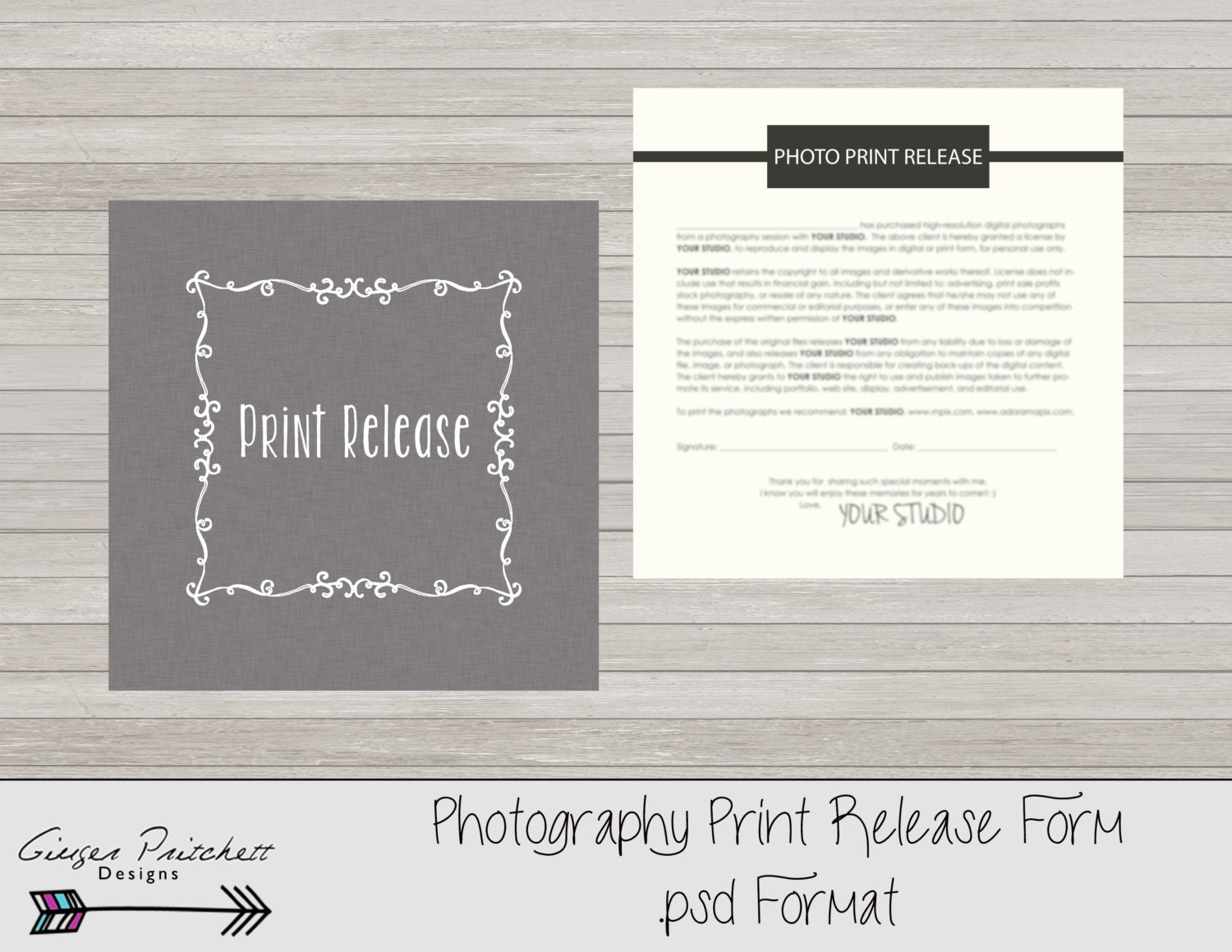 Copyrights release form print release form photography print – Print Release Form