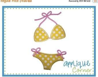 ON SALE INSTANT Download Bikini Swimsuit Bathing Suit applique digital design for embroidery machine by Applique Corner