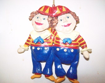 Tweedle Dee and Tweedle Dum Ornament Alice in Wonderland