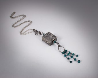 Anne Choi Crab Bead, Natural Emerald Beads Chain Necklace