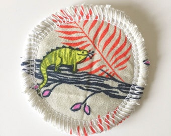 Iguana - Menstrual Cup Coaster - Cup Rug - Cup Spot - Cup Coaster - Cotton and Steel Sarah Watts HoneyMoon