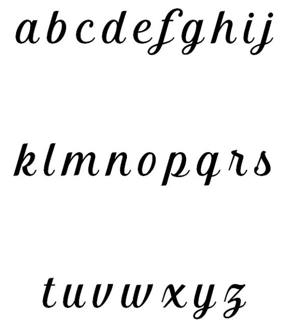 "Kathryn Monogram Font – 1″, 1.5"", 2″, 2.5"", 3″- Digital ..."
