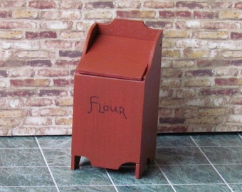 Handcrafted 12th Scale Country style FLOUR BIN