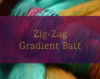 Zig - Zag Gradient - Spinning Batt Tutorial - Handspun Yarn Tutorial