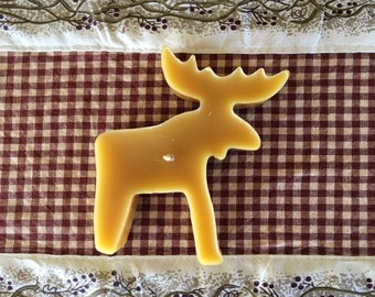 Moose Beeswax floating  candle (1) 100 percent pure natural beeswax