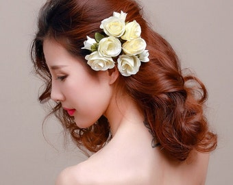 Floral Bridal Hair Clips, Style #247