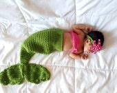 Crochet Baby Mermaid Outfit, Baby Mermaid Costume, Baby Mermaid Tail, Mermaid Photo Prop, Newborn Photo Prop, Baby  Costume, Baby Girl Gift