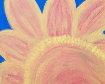 Sun Petals 2, Original Painting, Free Shipping