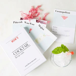 Personalised Cocktail Recipe set  - Cocktail recipe kit - Cocktail cards - Cocktail recipe cards - Cocktail recipes -Classic cocktail recipe
