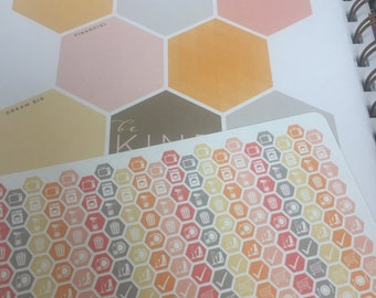 """Daily Chore Hexagons 1/4"""" (Dreamsicle) for Planner - Planner Stickers - inkWELL Press"""