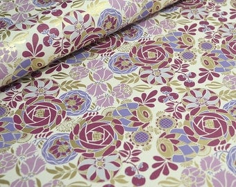 Rossi Fine Paper Liberty Flowers - Magenta, Lavender and Lilac