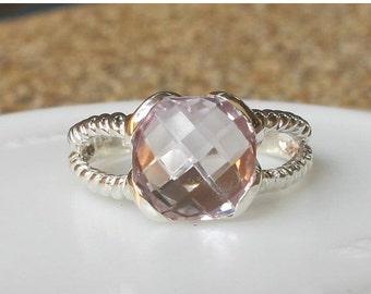 SALE Stack Lavender Rings- Light Purple Rings-Stackable Silver Rings-Birthstone Rings-Purple Amethyst Rings-Amethyst Silver Rings-Solitaire