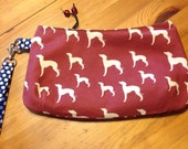 Italian Greyhound Coraline Clutch with Swivel Strap