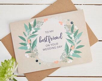 Best Friend Wedding Day Card