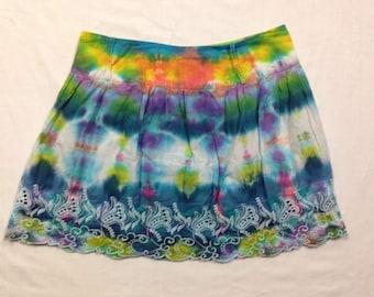 Funky Tie Dye Juniors Skirt size Medium W162