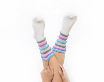 Vintage 80's Pastel Pom Pom Ankle Socks Sz S