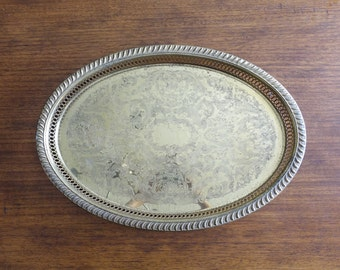 "18"" Oval Brass Serving Tray"