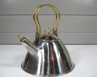 Tea Kettle, Stainless Steel Tea Kettle, Retro Tea Kettle, Retro Kitchen