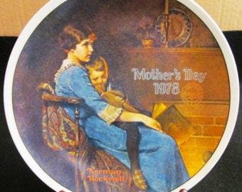 """Vintage Norman Rockwell Mothers Day  """"Bedtime"""" by Knowles China"""