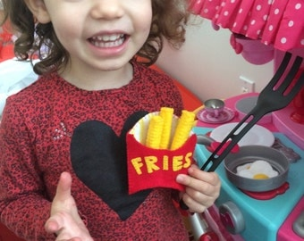 Felt  foods, fake food, food play, kids games, foot set, play set children hot dog french fries
